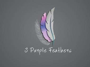 3 Purple Feathers