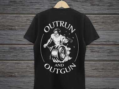 OUTRUN and OUTGUN Club Car Decal & Logo