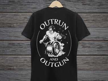 OUTRUN and OUTGUN Club Car Decal & Logo