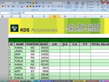 Make a Salary Sheet