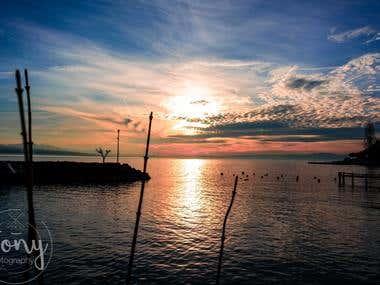 Lausanne dusk