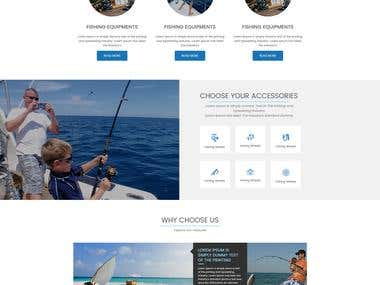 Design a Website Template with a Fishing Theme