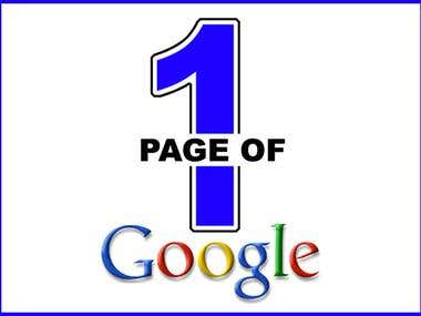 On the way to GOOGLE Page 1 - Complete SEO Package !