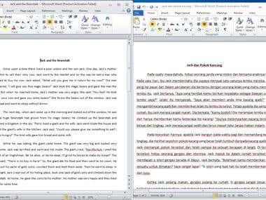 Translating English to Malay