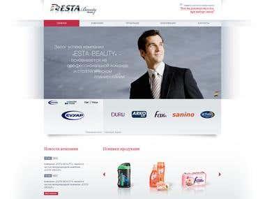Corporate website for Esta-Beauty - http://esta-beauty.biz/