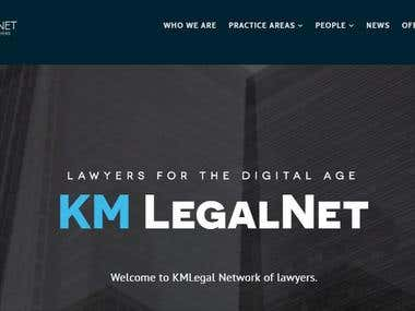 http://www.kmlegalnet.com/ Wordpress site redesign