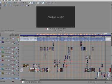 VegasPro Timeline of my Prison Break MovieMusicVideo
