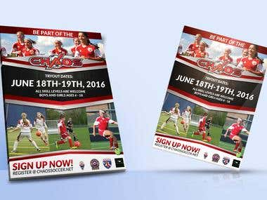GISA SOCCER FLYER DESIGN