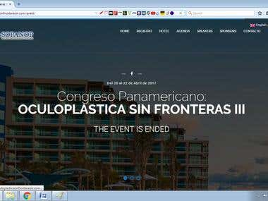Event booking site (http://www.oculoplasticasinfronterasiii)