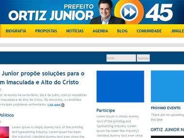 ORTIZ JUNIOR Campaign Website