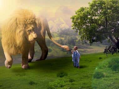 The Girl and The Beast - Photo Manipulation