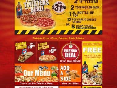 Twisters Pizza Project