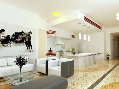 interior designing , 3d modeling , 3d lighting , texturing ,