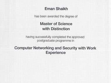 MSc Computer Networking & Security Degree