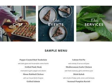 Empire Social Catering Website