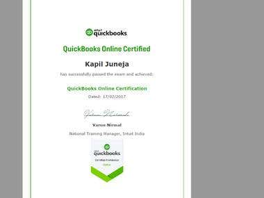 Quickbook Online Certification