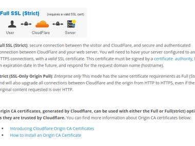 Cloudflare Full SSL (Strict) Setup & Installation.