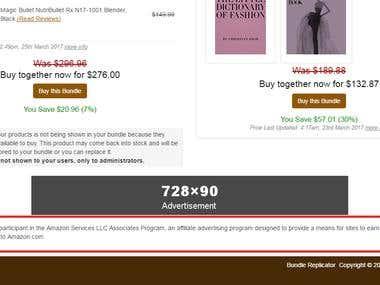 Amazone Product Listing