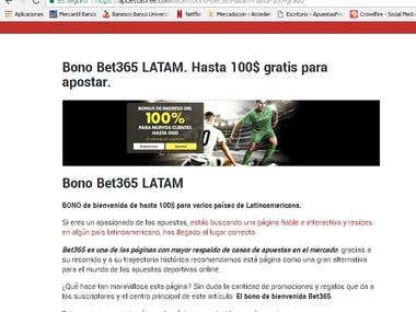 Bet 365 Bono de iniciación para gente de LATAM