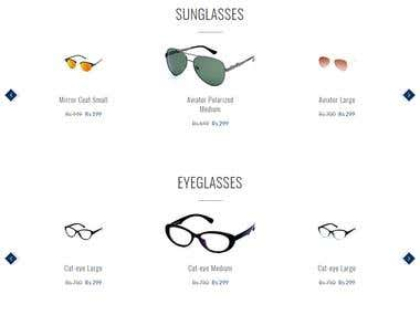 A spectacles online shop developed on codeigniter