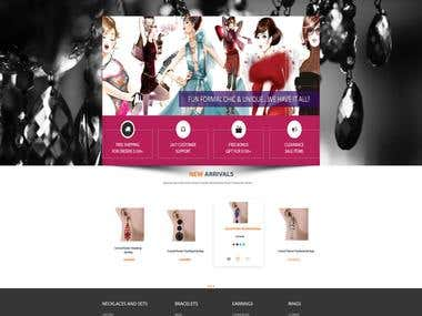 Jewellery Design Website Homepage Mock Up
