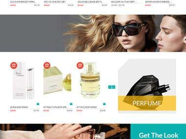 Ecommerce website for Perfumes and Sunglasses