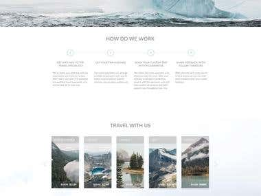 Mountains - web-site design