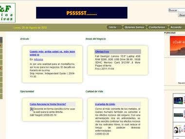 G&F Negocios Interactivos Portal