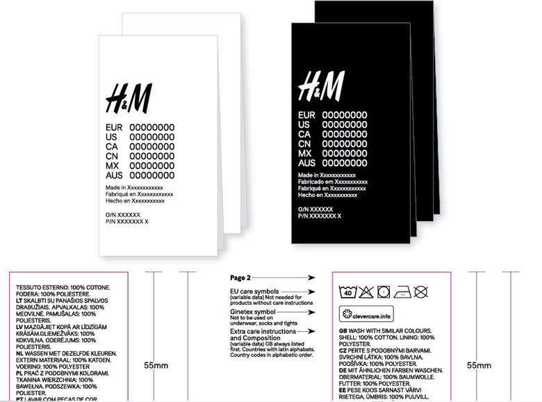 h m care label layout hm30012 freelancer