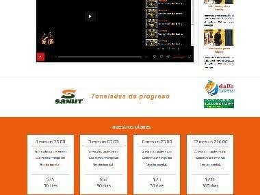 Rediseño de sitio web adaptable a cualquier pantalla.