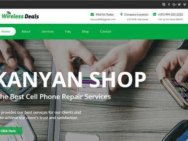 Online Mobile Services Wprdpress