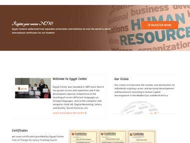 Egypt Center for Training - Joomla website