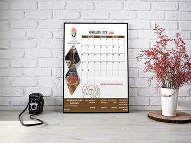 Calendar for Eslim Company