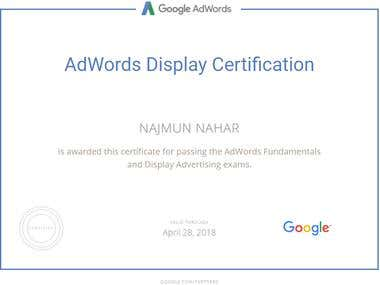 Googl AdWords Display Certification