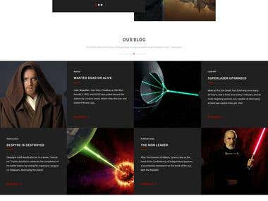 SW Dark Side eCommerce Landing - web-site design