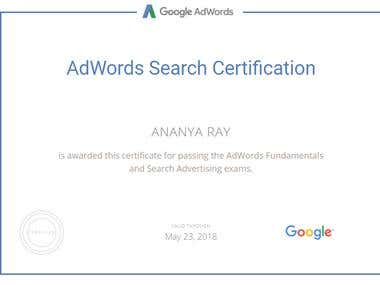 Search Certificate