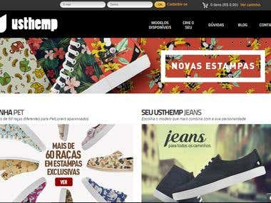 Usthemp E-commerce Website Design