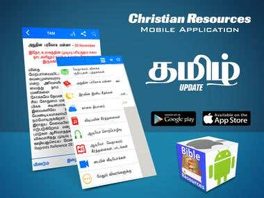 Ad Promotion Poster for Christian Resources Application