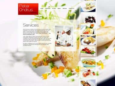 Private chef's website