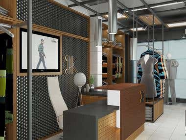 Clothing Store Interior design