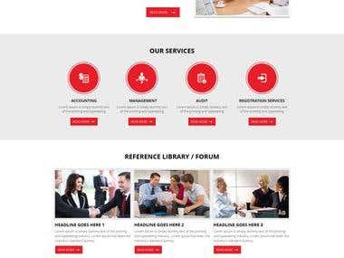 Wordpress + Responsive + HTML5 + CSS3 + Website Design