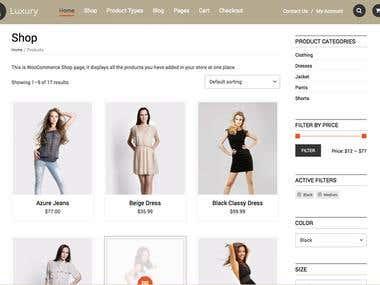 E commerce WordPress Development