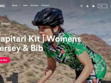 Shopify Site Development based on SketchApp design.