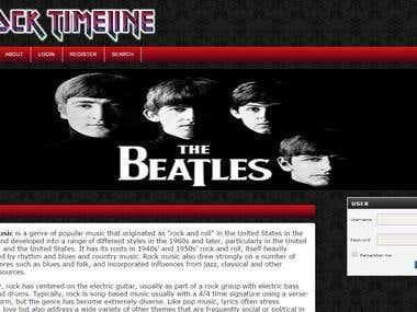 Open Journal System - Rock Music Timeline