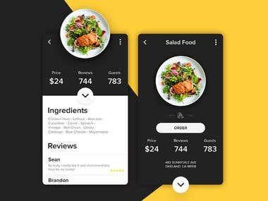 Restaurant - Menu details