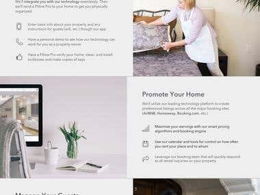 Pillow Landing Page