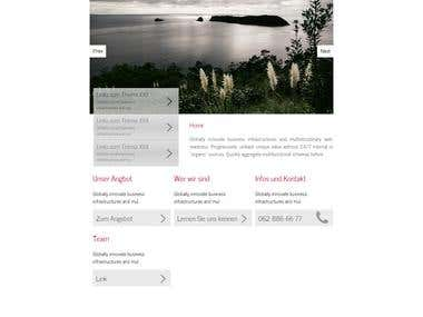 Silver Stripe Theme Design
