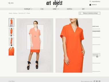 Art Object - web-store design