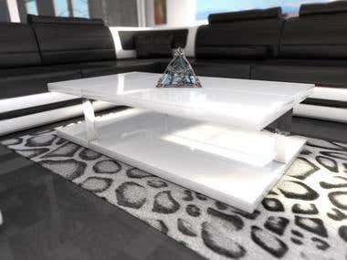 Table in living room