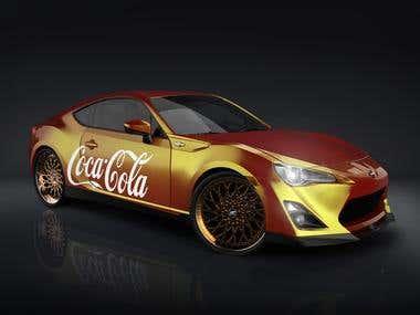 Coca-Cola car / 3D render